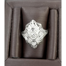 Sullivan's Estate Jewelry Platinum Open Filigree Ring
